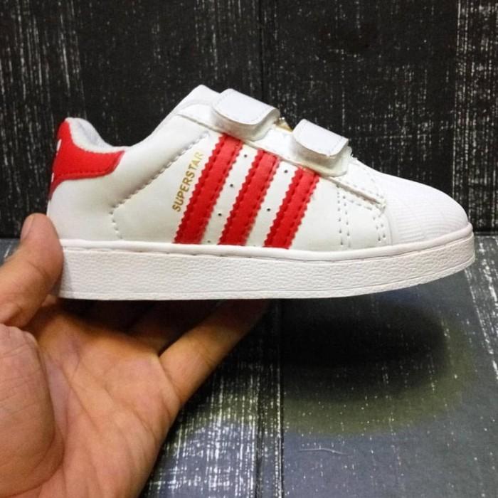 Jual Hot !! Sepatu Anak Adidas Superstar Kids White Putih Perekat ... 4c562cc17e
