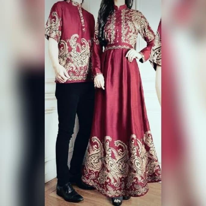 Promosi Murah Baju Busana Muslim Gamis Salsa Couple Maroon Ibu Dan ... 9ede569102