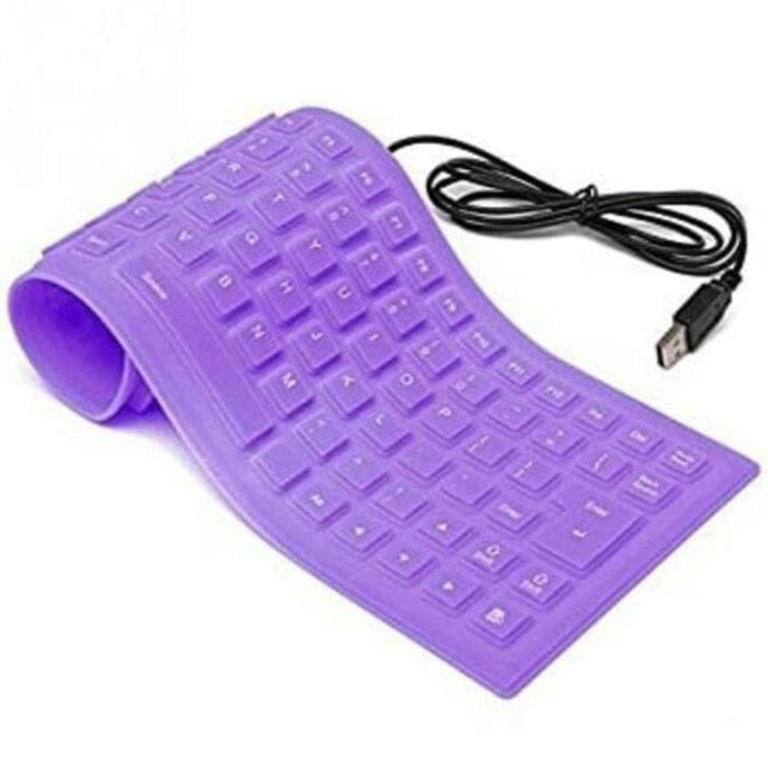 Best Seller Keyboard Usb Flexible Waterproff Mini - Hitam