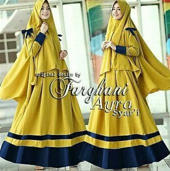 Jual Baju Busana Muslim Wanita Gamis Jersey Terbaru Aida Syari Set ... c1c7fd1ac8