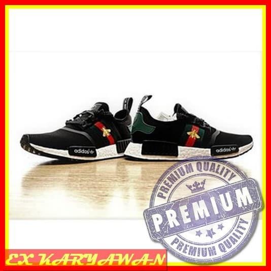 51cc53abb8c Jual Sneakers Promo ADIDAS NMD R1 x Bee Gucci Black High Premium Original S  - EX KARYAWAN | Tokopedia