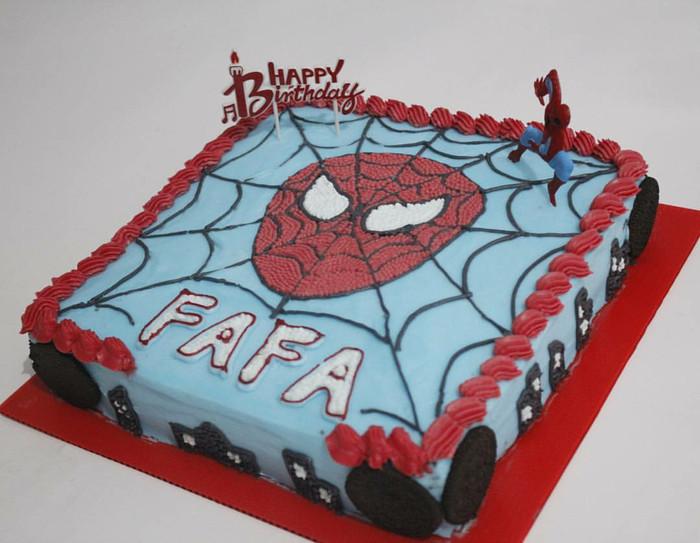 Gambar Spiderman Gambar Kue Ultah Spiderman Kotak