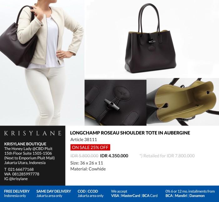 Jual Longchamp Roseau Tote Bag Aubergine 100% Authentic from europe ... 3f2733578bbc8