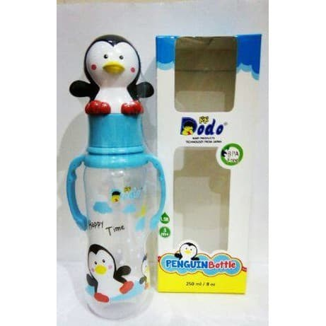 Dodo Penguin Bottle 250ml / Botol Susu Tutup Penguin
