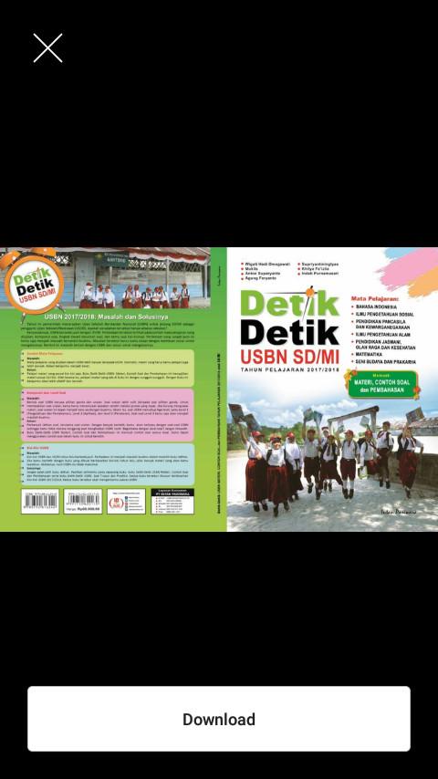 Buku Kumpulan Soal SD Paket buku USBN Detik Detik UN SD/MI 2018 Intan