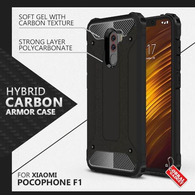 hot sale online 793ac ffaec Jual Armor Case Xiaomi Pocophone F1 Soft Hard Softcase Hardcase Casing Poco  - Hitam - Jakarta Barat - Obral Gadget | Tokopedia