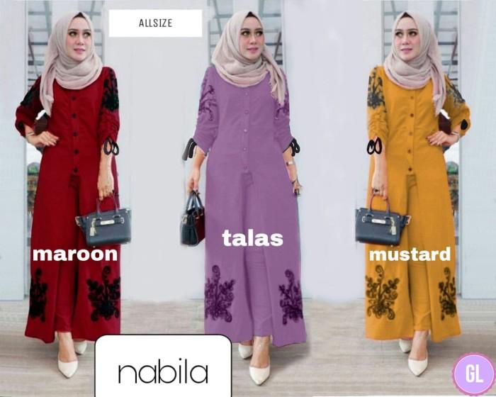 Atasan Wanita Muslim - Nabila Set Maxi Dress Muslim - Dzikri Moeslim ... 92e6b3aecf