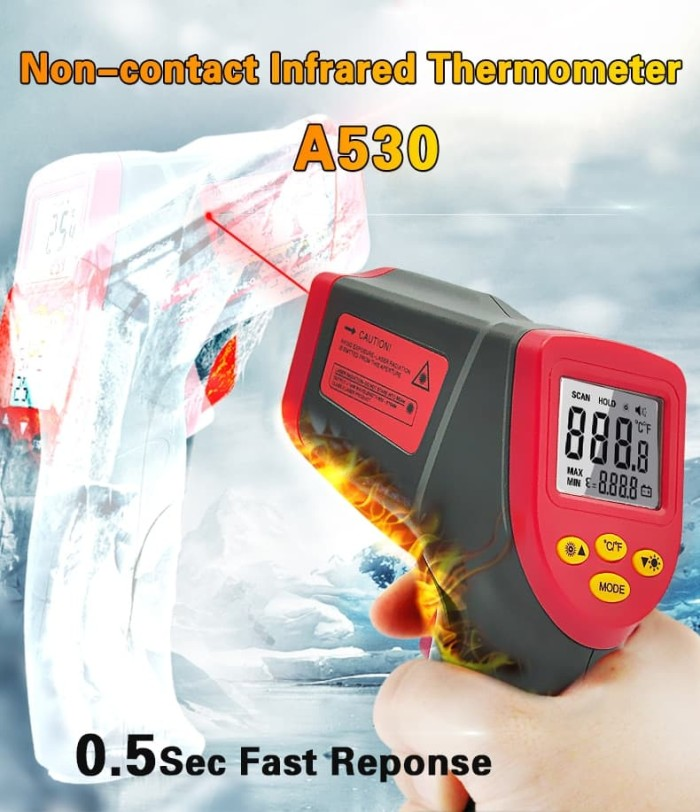Termometer Infrared Digital Laser A350