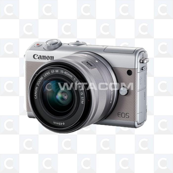 harga Canon eos m100 kit 15-45mm - grey Tokopedia.com