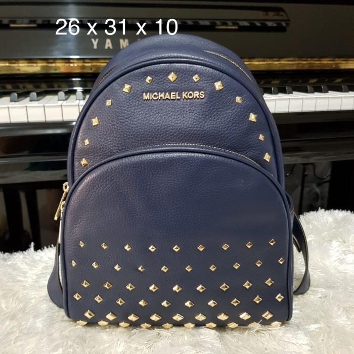 ec5b1930661c ... sweden tas michael kors original michael kors backpack abbey medium  navy 82786 18b9a