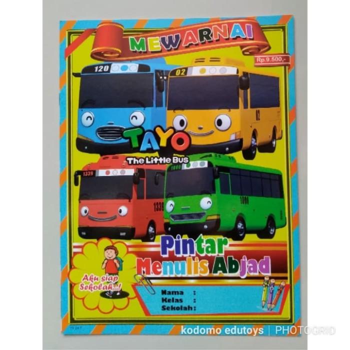 Jual Buku Mewarnai Anak Karakter Tayo The Little Bus 014buku