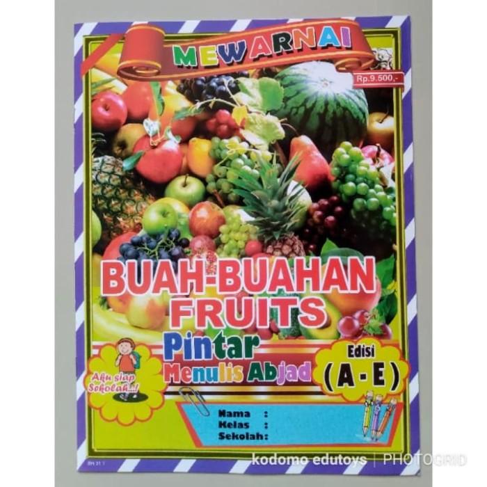 Jual Buku Mewarnai Anak Buah Buahan Fruits 017 Buku Aktifitas Anak