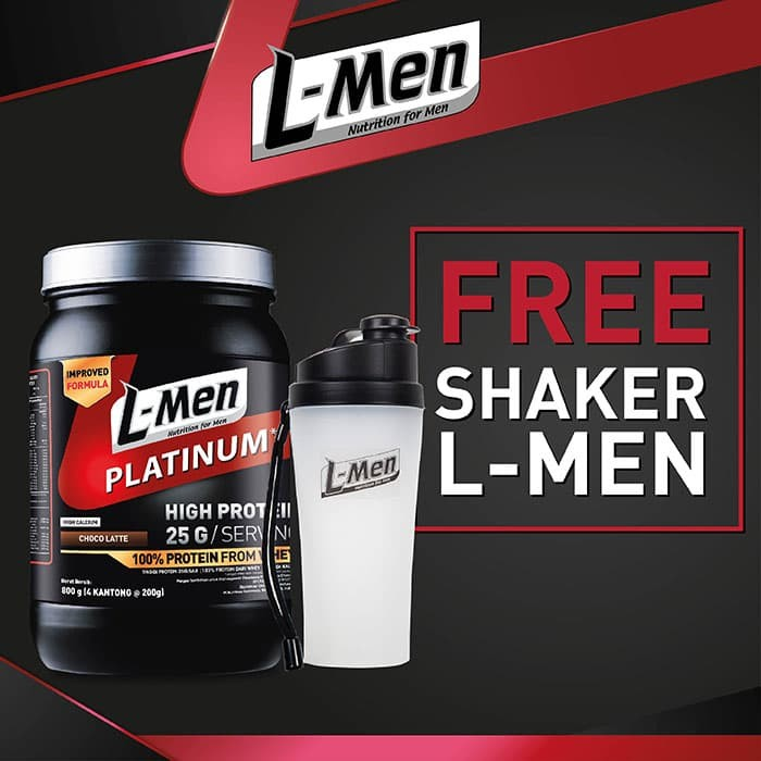 L-Men Platinum Choco Latte 800gr (25gr protein) FREE Shaker L-Men - FS