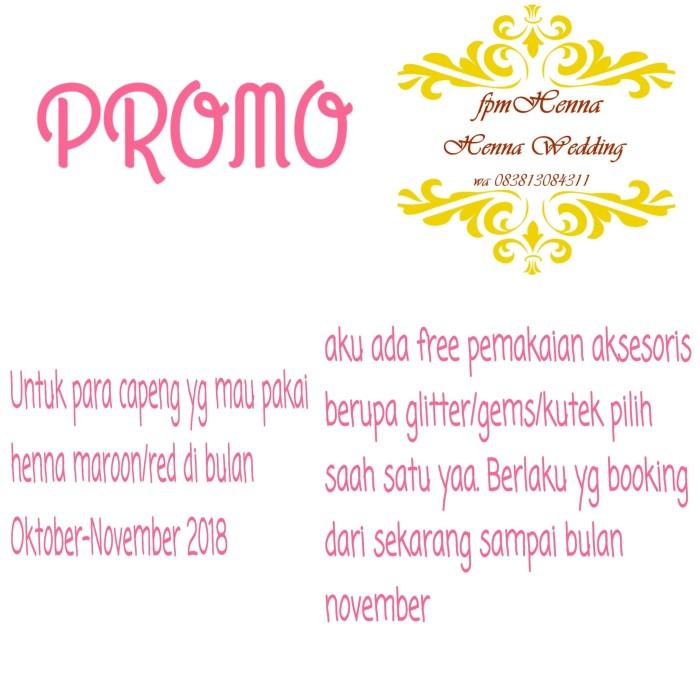 Jual Promo Jasa Henna Wedding Pengantin Jasa Henna Wedding Murah