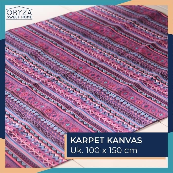harga Karpet lantai tebal minimalis / karpet kanvas motif tribal biru Tokopedia.com