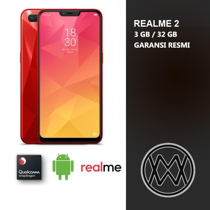 Realme 2 - 3 GB / 32 GB - Garansi Resmi by OPPO - Hitam