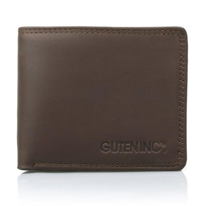 Guten inc - scape wallet brown / dompet kulit pria - cokelat