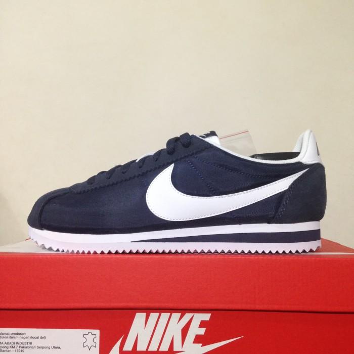 Jual Sepatu Sneaker Casual Nike Classic Cortez Nylon Obsidian 807472 ... 9335194d05