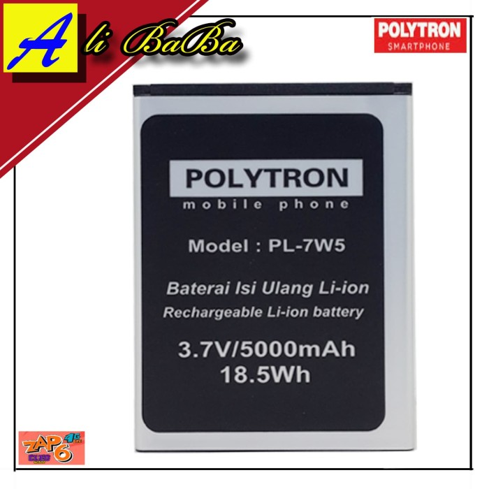 harga Baterai handphone polytron zap 6 cleo 4g500 pl-7w5 double power 4g500 Tokopedia.com
