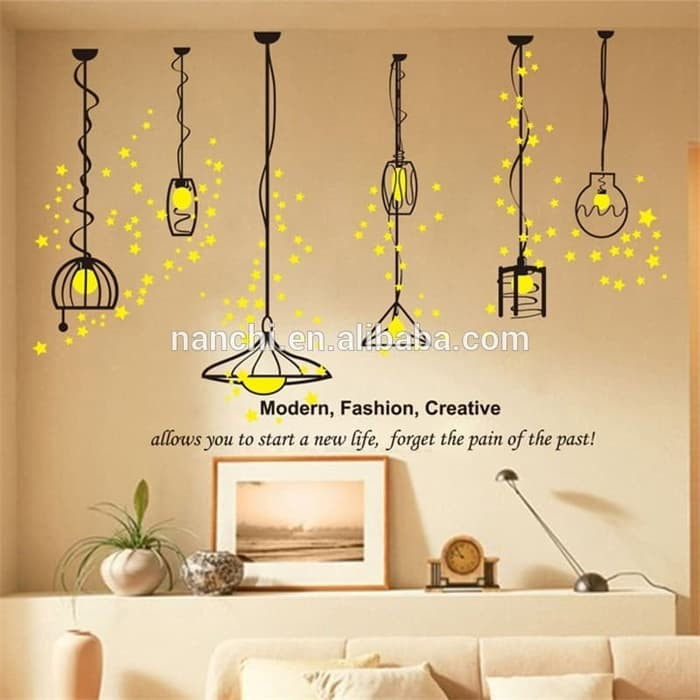 jual wall sticker 50x70 xh3943 modern light wallsticker dinding