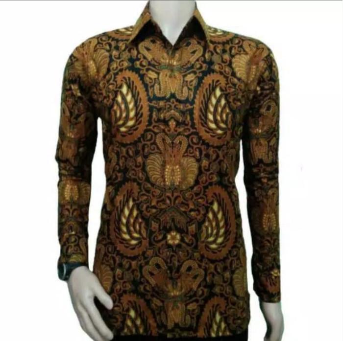 Kemeja Batik Original Pekalongan Hem Merak Sayap