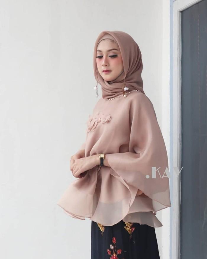 Jual Baju Pesta Wanita Terbaru Baju Gamis Organza Premium Mocca Kota Padang Precious Hijab Tokopedia