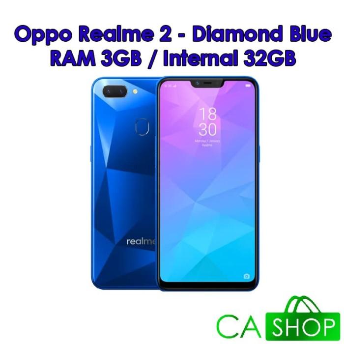 Jual Oppo Realme 2 3gb 32gb 3 32 Diamond Blue Biru Baru Resmi