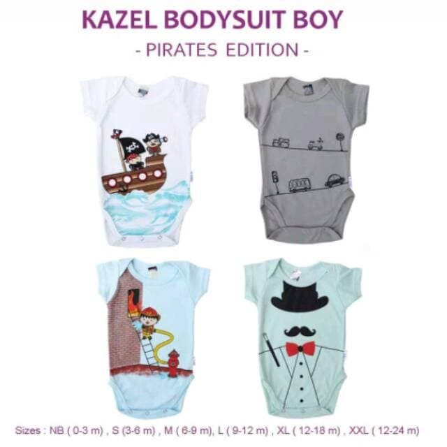 Kazel Bodysuit / Jumper PIRATE 4in1 Jumper Bayi Modern Boy cherrybaby - Pirate XXL