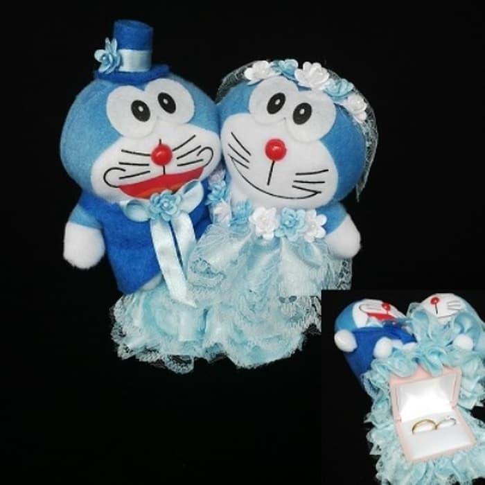 Kotak Cincin Perhiasan Boneka Doraemon Kado Couple Ring Holder