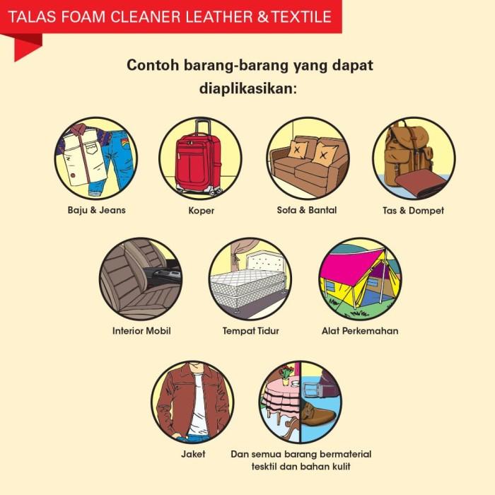 Talas (Leather) Foam Cleaner - Pembersih - Blanja.com