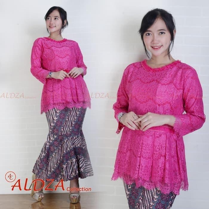 Jual Setelan Kebaya Modern Brukat Bsd Warna Pink Fanta Fuchsia Xl Dki Jakarta Ayu Mukena Tokopedia