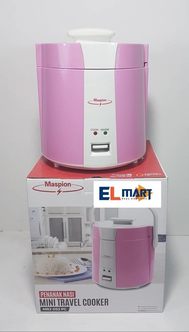 Maspion mini travel cooker MRJ052PC/ penanak nasi magic com mini 0,5L