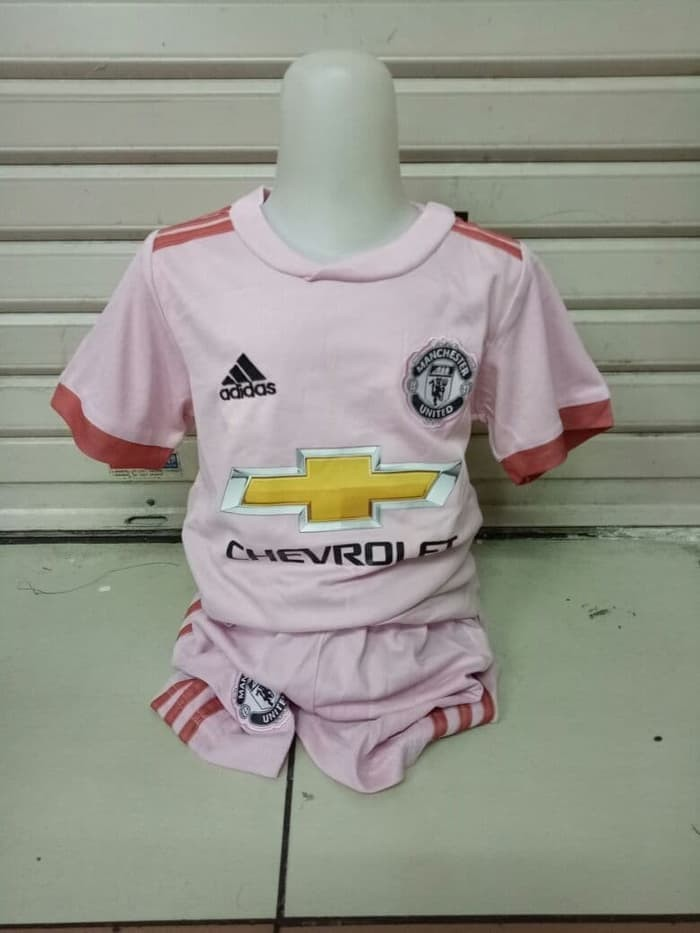 b44266983 Jual Obral Jersey Kids Manchester United away pink 2018 2019 Grade ...
