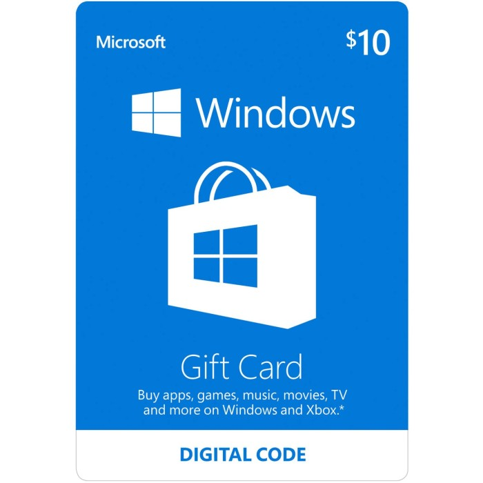 harga Microsoft windows gift card $10 Tokopedia.com