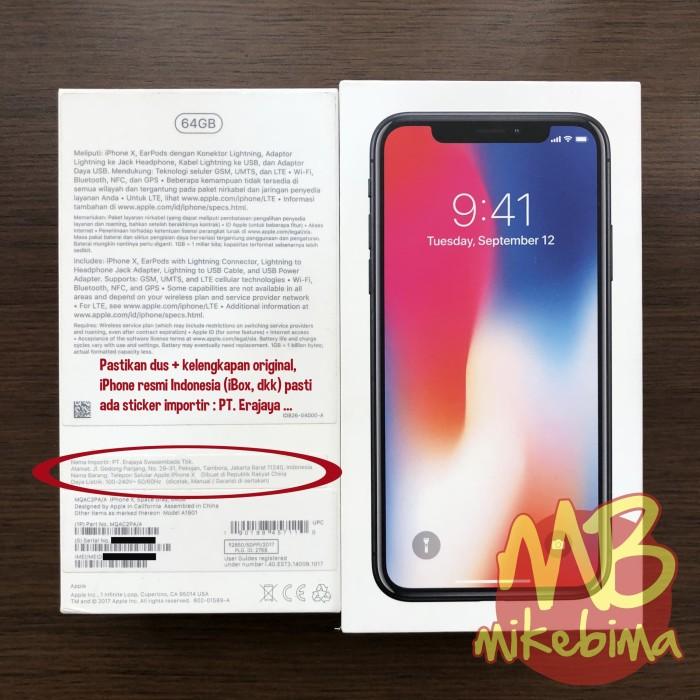 Jual iPhone X 256GB resmi iBox Silver 100% original bs TT Xs Max or ... be50a7d3ba