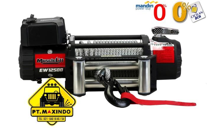 harga T-max musclelift winch ew-12500 24 volt 56 ton high speed ratio 193:1 Tokopedia.com