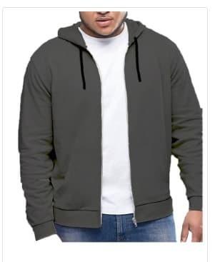 mc fashion Big size jaket Hoodie-Vin - Hitam
