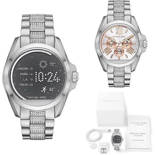 f653b3885f9f Jual MK Access Bradshaw Pave Silver Touch Screen Smartwatch  MKT5000 ...