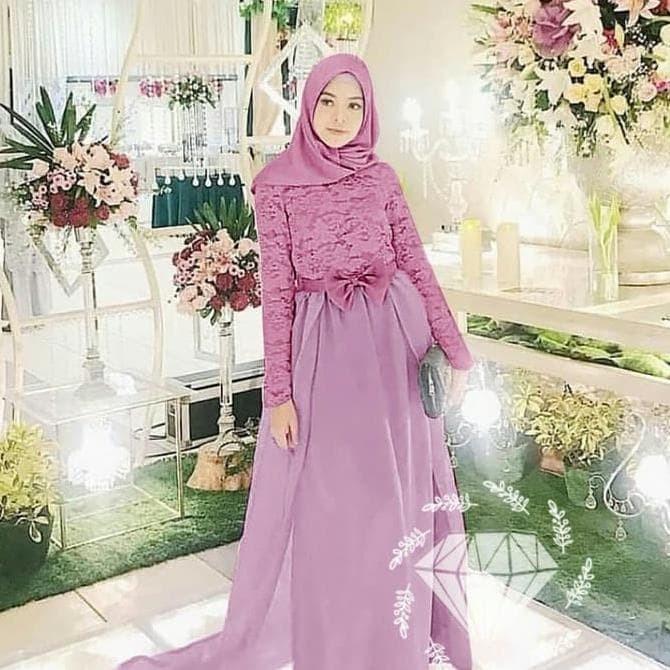 Jual Fashion Muslim Berkualitas Gamis Pesta Terbaru Gaun Pesta