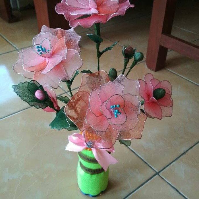 Jual Bunga Hias Bunga Stocking Stoking Kab Cilacap Smart Handmade Tokopedia