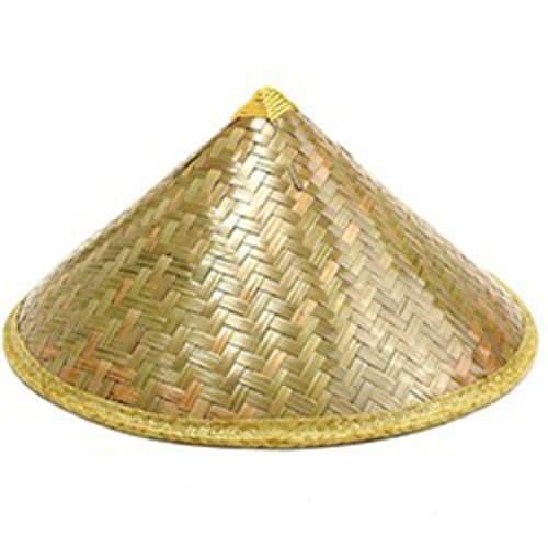 Topi Petani bambu bahan halus awet dan kuat termurah limit stok - Emas