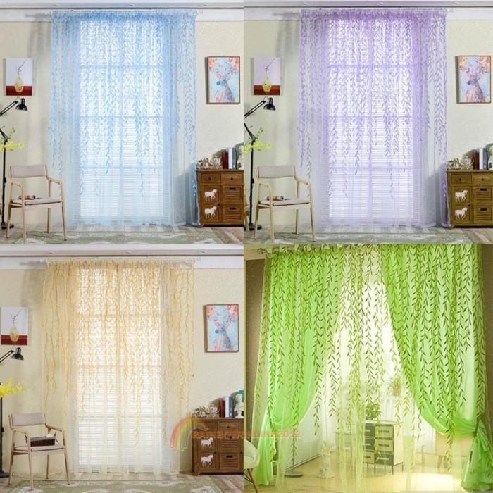Jual Tirai Jendela Tirai Gorden Tranparan Motif Warna Dekorasi Jendela Kota Denpasar Abahshop3 Tokopedia