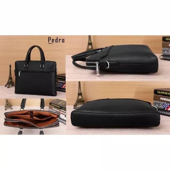 harga Terbaru tas kerja laptop pedro / high quality pedro bag import - hitam Tokopedia.com