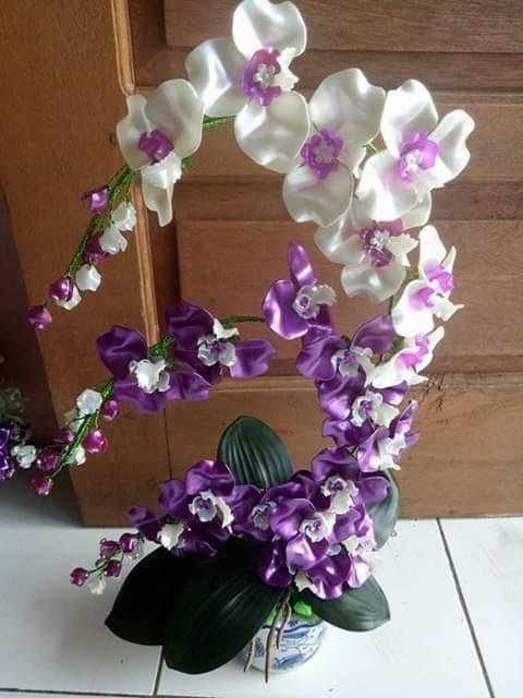 Jual Bunga Akrilik Anggrek Dengan Pot Kota Padang Airin Shop0203 Tokopedia