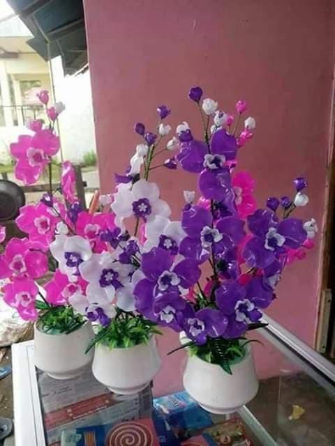 Jual Bunga Akrilik Anggrek Ukuran Sedang Dengan Pot Kramik Putih Kota Padang Airin Shop0203 Tokopedia