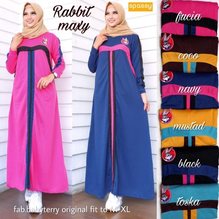 Jual Baju Terusan Wanita Muslim Longdress Risma Jumbo Maxy 1 Harga Rp 125.000