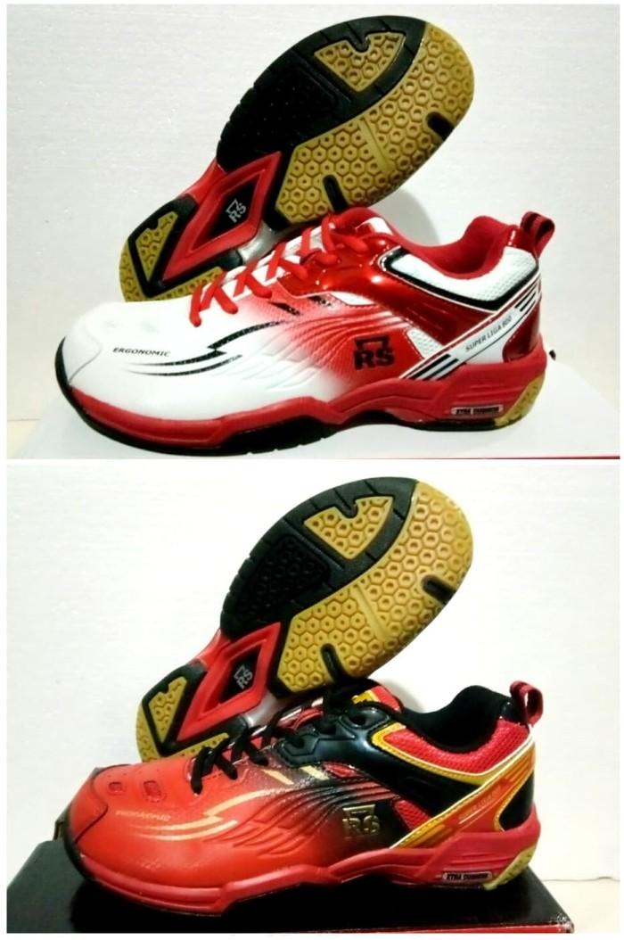 harga Sepatu badminton rs super liga 800 white red & black Tokopedia.com