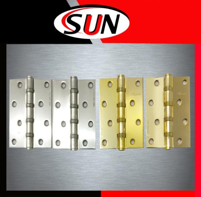 harga Engsel pintu rumah jendela 4   inch putih kuning emas chrome stainless Tokopedia.com