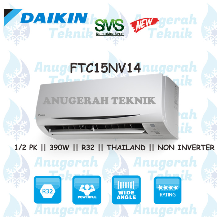 ... AC SPLIT DAIKIN 0 5 PK 0 5 PK R32 THAILAND NON INVERTER FTC15NV14