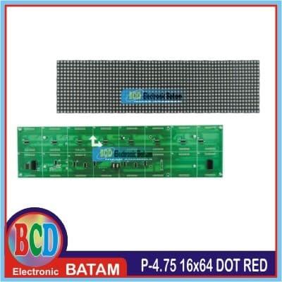 MODUL LED DOT MATRIX P4 75 RED 16 dots X 64 dots